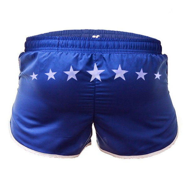 Stars blue swim-gym short