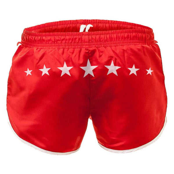 Stars red swim-gym short