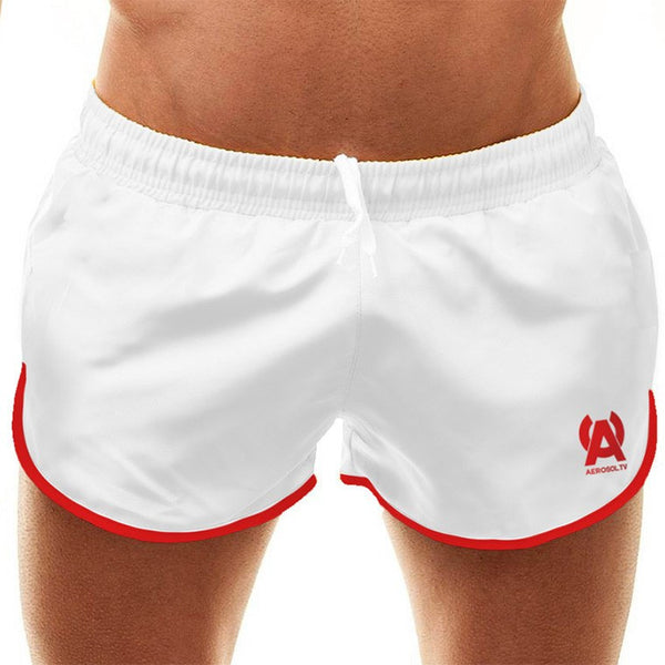 Stars white swim-gym short