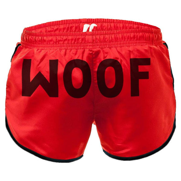 Woof red swim-gym short