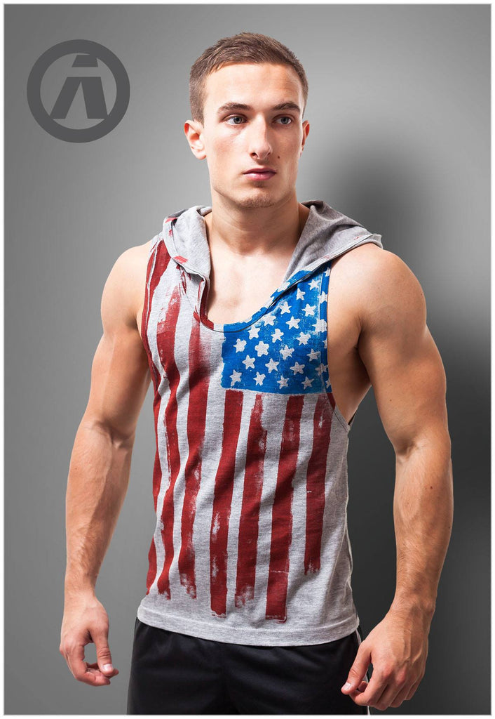 USA hooded vest