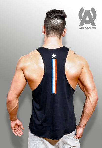 A-star black racerback