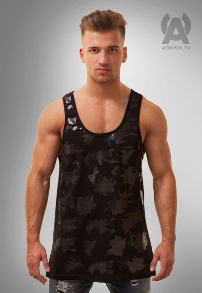 Camo rubber tank black