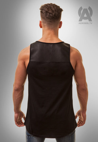 Vegan Leather tank black