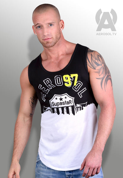 supastar vest faded black
