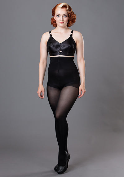 100 Denier High Waist Black Sukkahousut