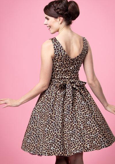 Tea Leopard Kellomekko-Lady Vintage-Miss Windy Shop