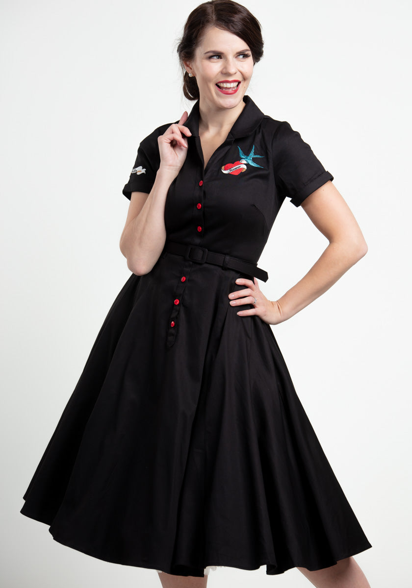 Caterina Black True Love Paitamekko-Collectif-Miss Windy Shop