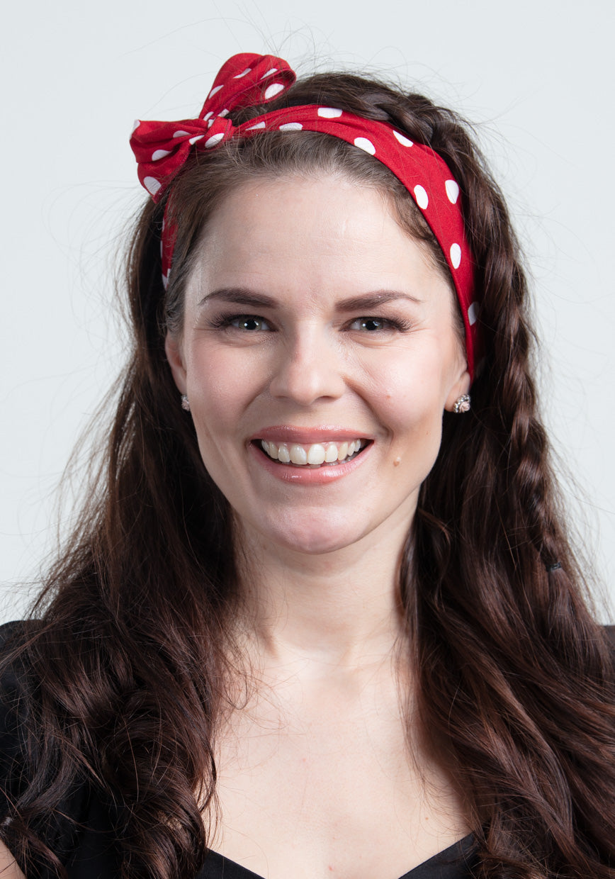 Red Polka Dot Wired Bandana-Collectif-Miss Windy Shop