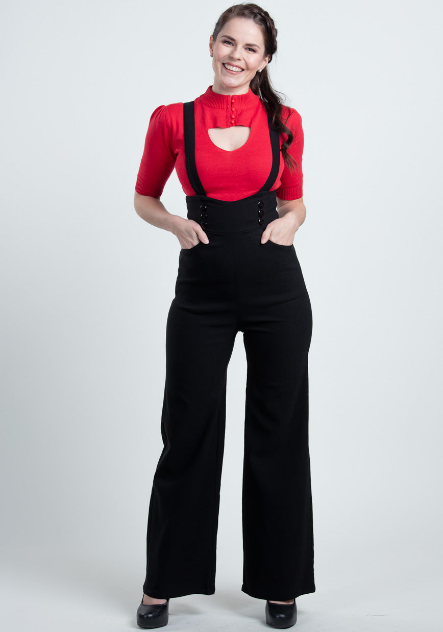 Ronnie Black Dungaree Haalarit-Collectif-Miss Windy Shop