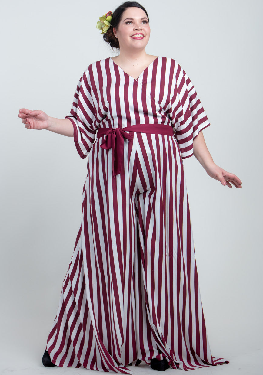 Akiko Deckchair Stripe Jumpsuit-Collectif-Miss Windy Shop