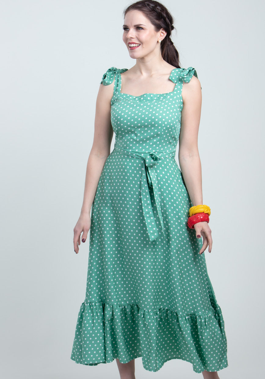 Katrina Green Polka Dot Kesämekko-Collectif-Miss Windy Shop