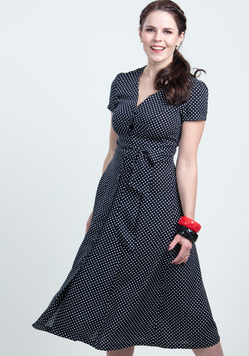 Riley Navy Mini Polka Dot Arkimekko-Collectif-Miss Windy Shop