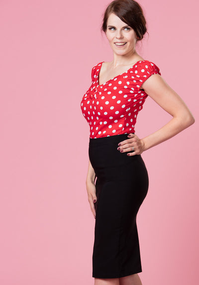 Polly Black Pencil Skirt Kynähame-Collectif-Miss Windy Shop