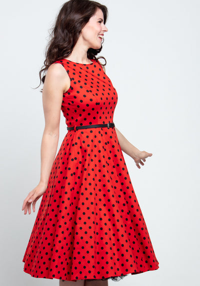 Hepburn Lady Bird Polka Dot Kellomekko-Lady Vintage-Miss Windy Shop