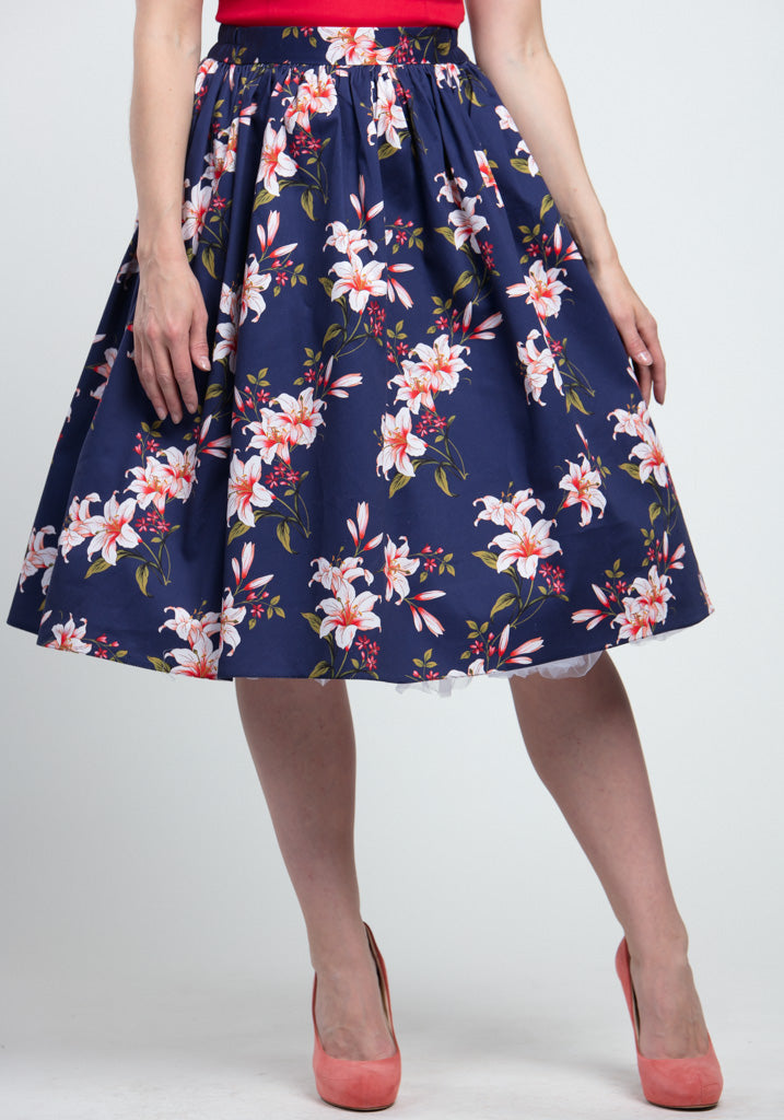 Navy Floral Kellohame-Lady Vintage-Miss Windy Shop