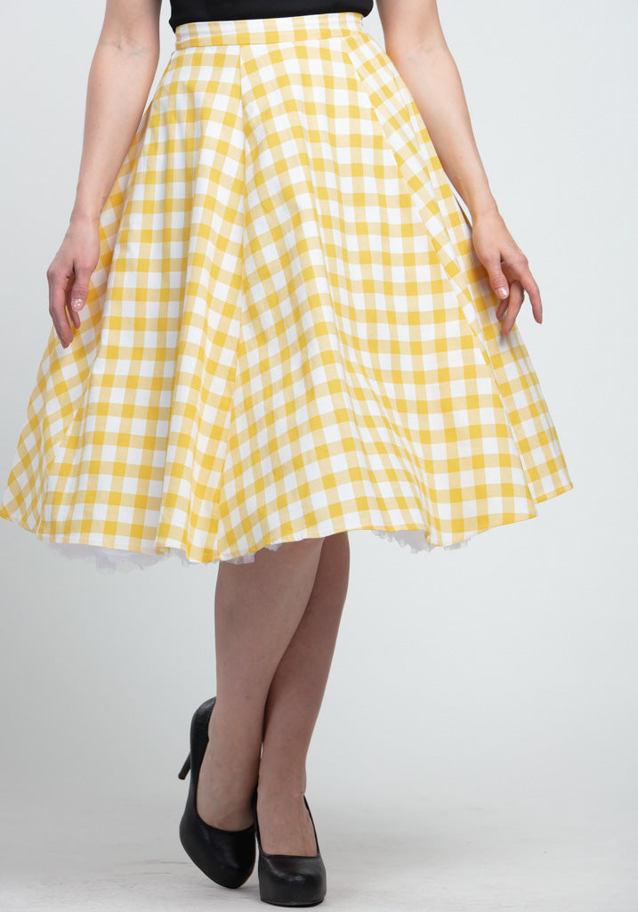 Matilde Yellow Gingham Kellohame-Collectif-Miss Windy Shop