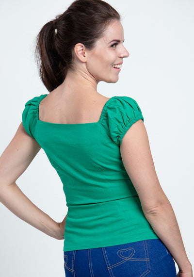 Dolores Green Top-Collectif-Miss Windy Shop