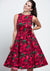 Hepburn Red Floral In Burgundy Kellomekko-Lady Vintage-Miss Windy Shop