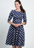 Milana Navy Polka Dot Kellomekko-Hearts & Roses London-Miss Windy Shop