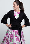 Wrap Cardigan Black Kietaisutakki-Banned-Miss Windy Shop