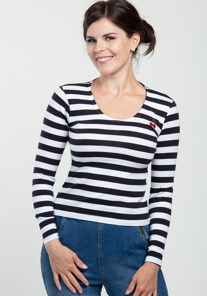 Purdy Cherry Striped Paita-Collectif-Miss Windy Shop