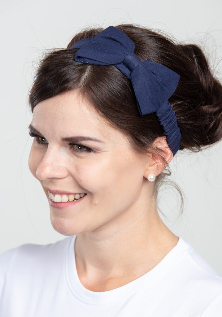 Dionne Navy Bow Hiuspanta-Banned-Miss Windy Shop