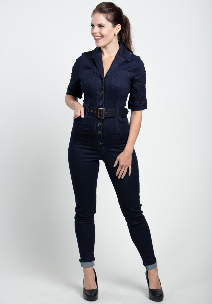Erin Denim Jumpsuit-Collectif-Miss Windy Shop