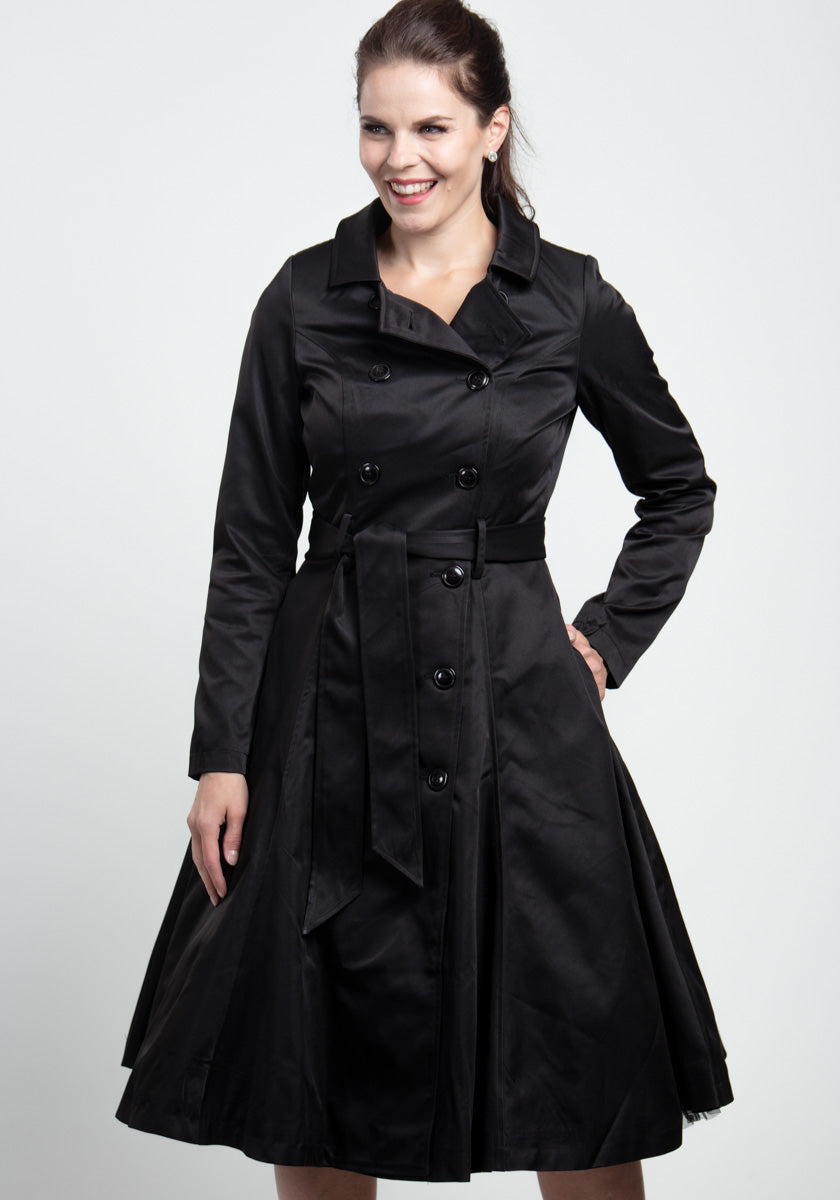 Korrina Black Swing Trenssitakki-Collectif-Miss Windy Shop