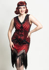 1920's Virginia Red & Black Gatsby Mekko-Miss Windy Shop-Miss Windy Shop