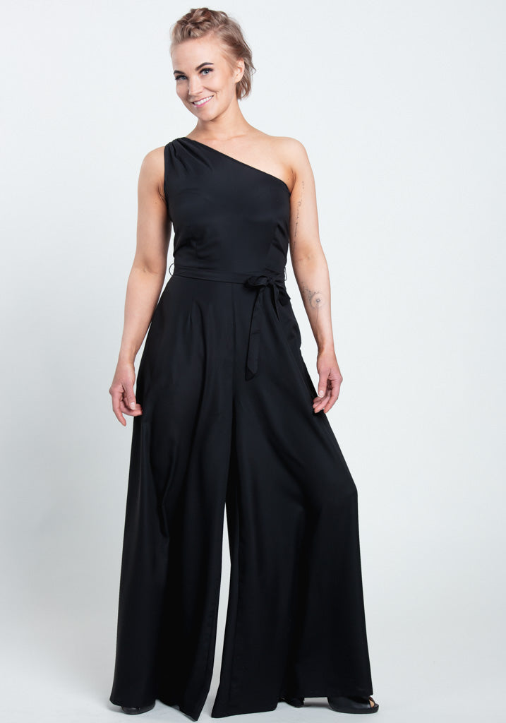 Cindal Black Jumpsuit-Collectif-Miss Windy Shop