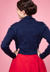 Jean Navy Bolero-Collectif-Miss Windy Shop