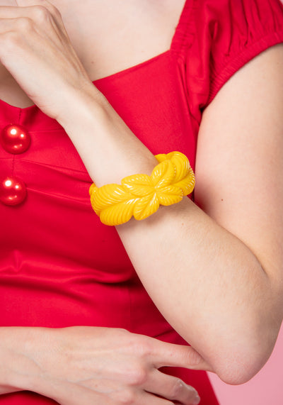 Carrie Yellow Leaves Bangle Rannekoru-Collectif-Miss Windy Shop