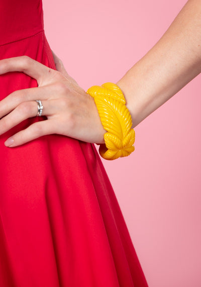 Carrie Yellow Leaves Bangle Rannekoru Collectif