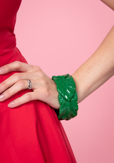 Carrie Green Leaves Bangle Rannekoru Collectif
