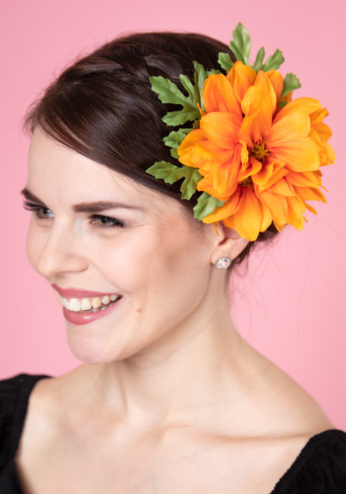 Claire Orange Flower Hiuskukka Collectif