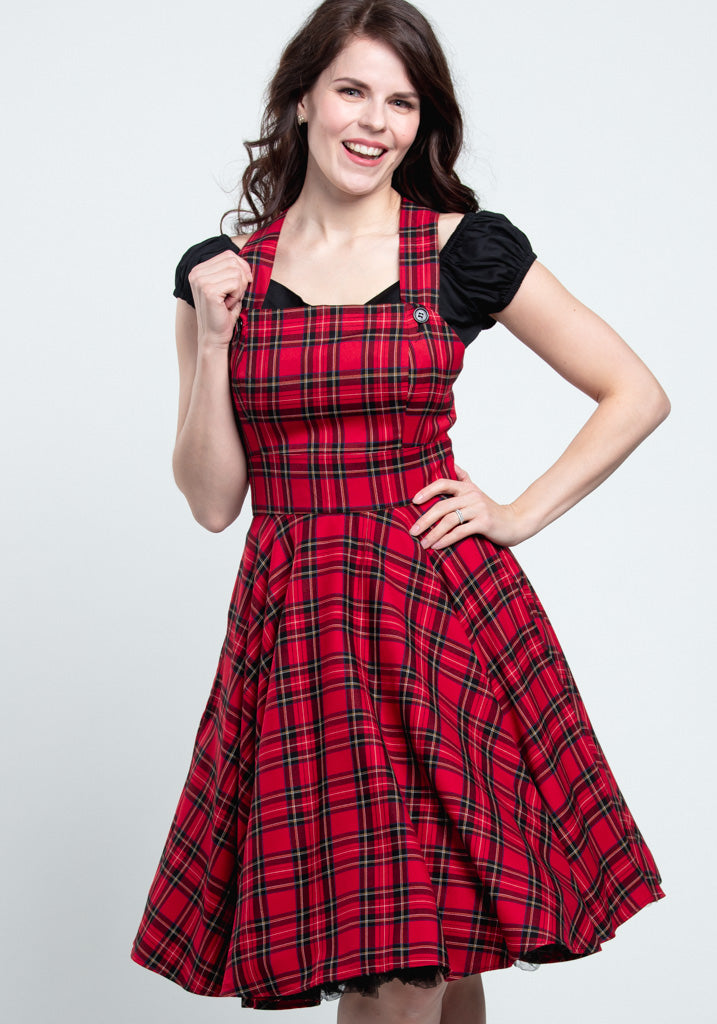 Irvine Pinafore Red Lappuhame-Hell Bunny-Miss Windy Shop
