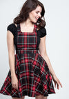 Islay Pinafore Red Lappuhame-Hell Bunny-Miss Windy Shop