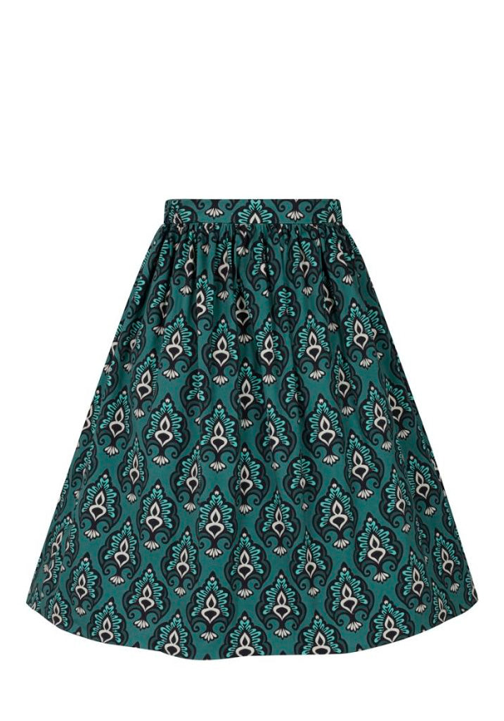 Baroque Teal Kellohame (Ennakkotilaustuote)-Lady Vintage-Miss Windy Shop