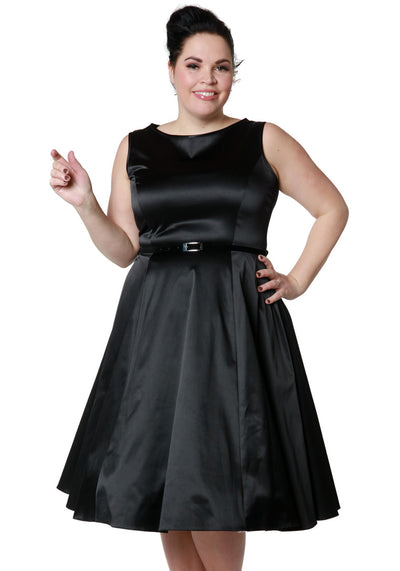 Black Satin Hepburn