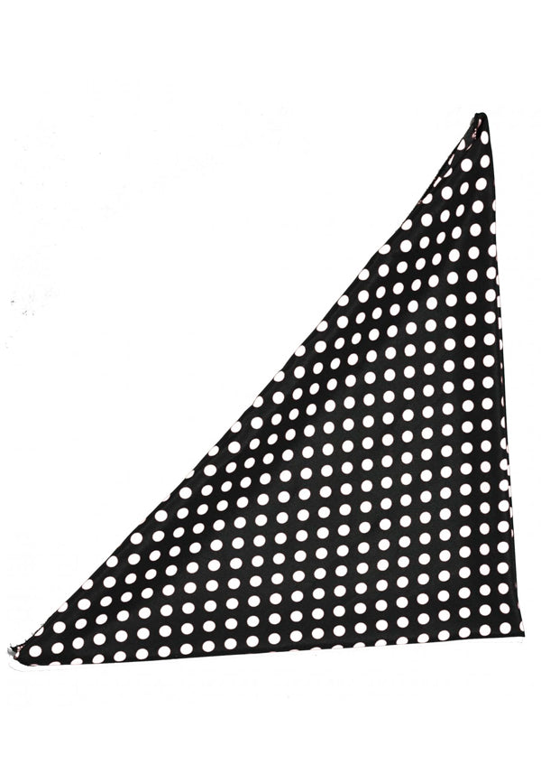 Black Polka Dot Bandana