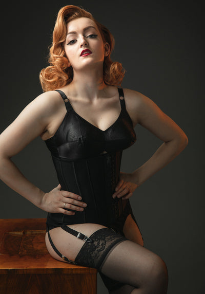 Black Underbust Korsetti-Corset Story-Miss Windy Shop