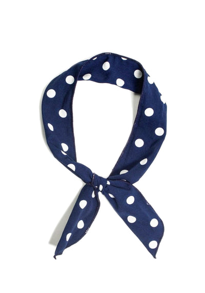 Blue Polka Dot Wired Bandana-Collectif-Miss Windy Shop