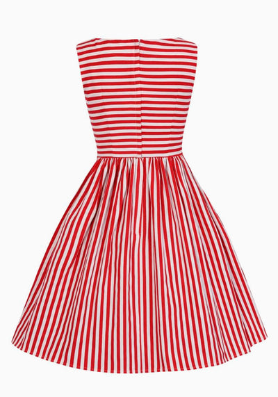 Candice Red Striped Swing Mekko