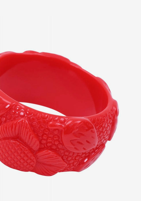 Carrie Red Strawberries Bangle Rannekoru