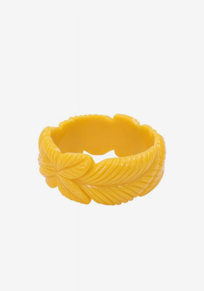 Carrie Yellow Leaves Bangle Rannekoru