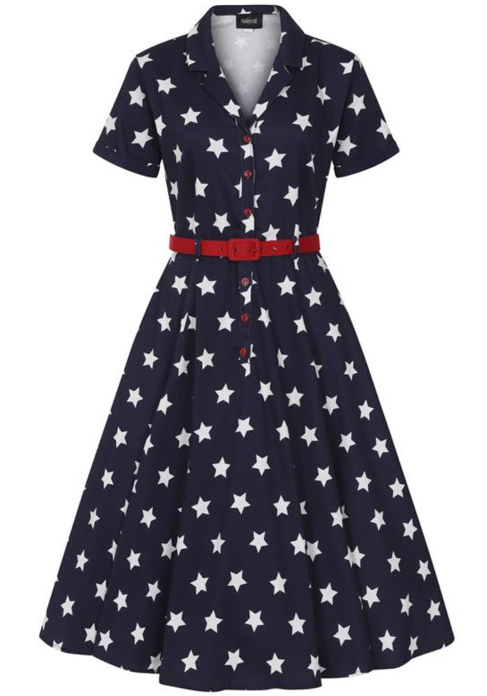 Caterina Navy Stars Vintage Paitamekko-Collectif-Miss Windy Shop