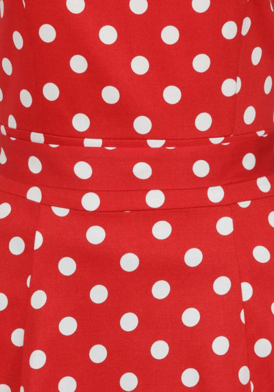 Charlotte Red Polka Dot 50-luvun mekko-Lady Vintage-Miss Windy Shop