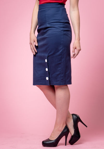 Charlotte Navy Pencil Kynähame-Collectif-Miss Windy Shop