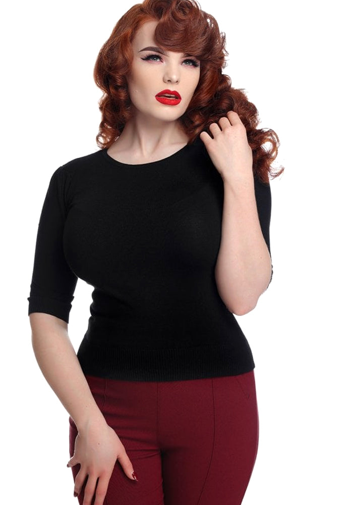 Chrissie Black Neulepaita (Ennakkotilaustuote)-Collectif-Miss Windy Shop